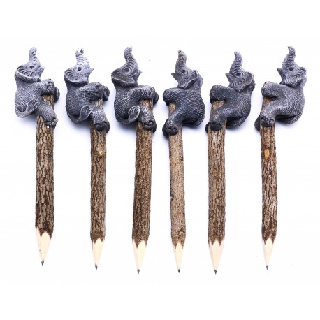Elephant Grey Personalized Pencils (set of 6)