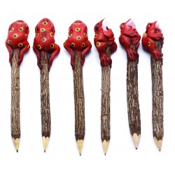Frog Red Personalized Pencils (set of 6)
