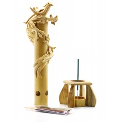 Bamboo Natural Dragon Incense Holder
