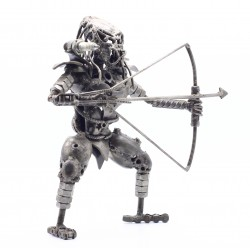 30 cm Scrap Metal Predator with Bow and Arrow