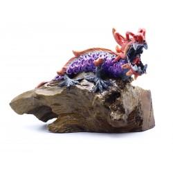 Red Dragon Gemstone Eyes Sculpture