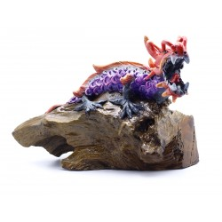 Red Dragon Gemstone Eyes Sculpture