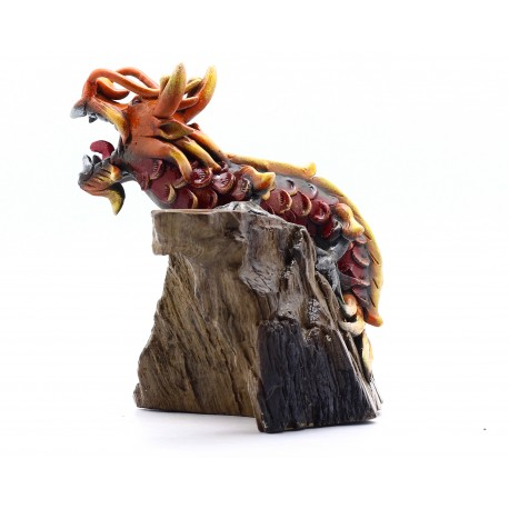 Red Wine Dragon Statue Oriental East Asian