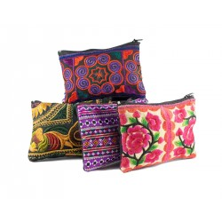 Hmong Hilltribe Zipper Change Purse