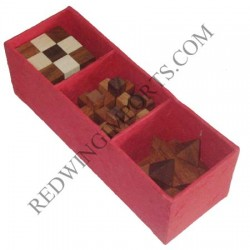 3 Piece Wooden Puzzle Gift Set