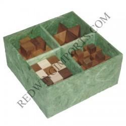 4 Piece Wooden Puzzle Gift Set