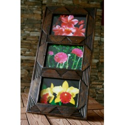 Teak Picture Frame 5x7 Hang or Stand  - 1