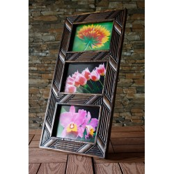 Teak Picture Frame 5x7 Hang or Stand  - 2