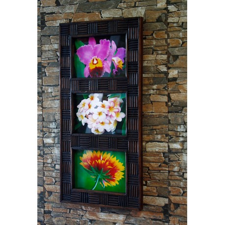 Teak Picture Frame 5x7 Hang or Stand  - 3