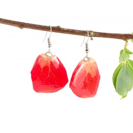 Red Butterfly Wing Earrings