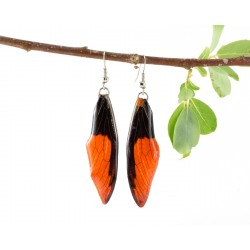 Orange Dragonfly Earrings