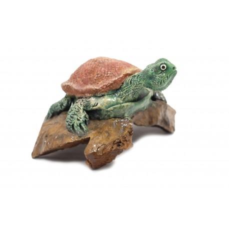 Teak Turtle Sculpture