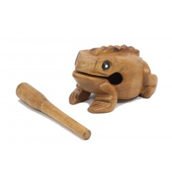 Musical Croaking Frog Statuette 7 inch