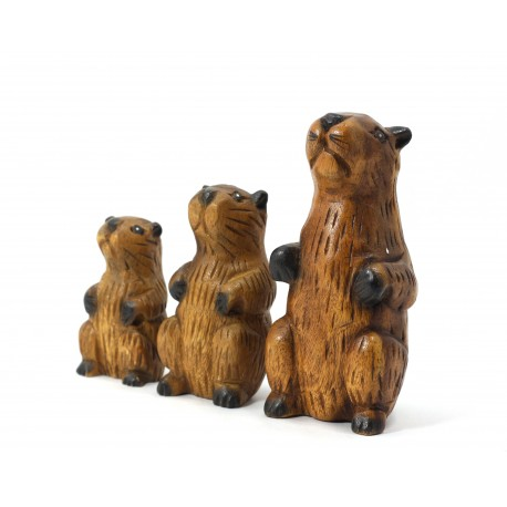 Musical Busy Beaver Statuette 5 Inch