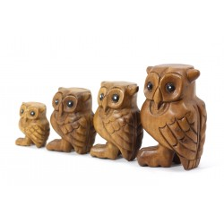 Musical Hooting Owl Statuette 5 Inch