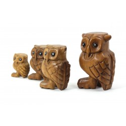 Musical Hooting Owl Statuette 4 Inch