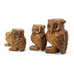 Musical Hooting Owl Statuette 3 Inch
