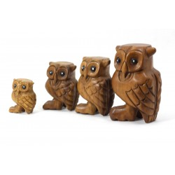 Musical Hooting Owl Statuette 2 Inch