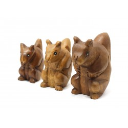 Musical Squealing Squirrel Statuette 5 Inch