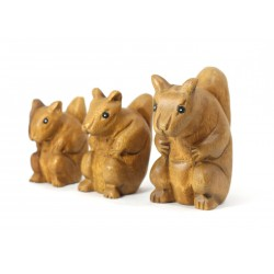 Musical Squealing Squirrel Statuette 4 Inch