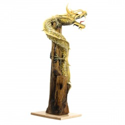 One Meter Gold Stand Alone Dragon