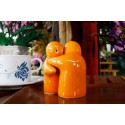 Hugging People Orange Salt and Pepper Shakers