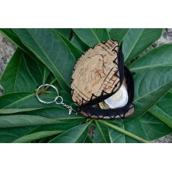 Coconut Shell Key Chain (set of 2)